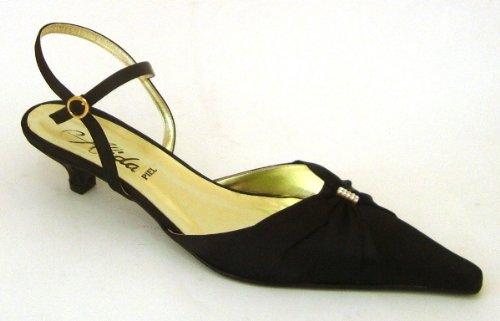 De 8453 Alida Zapato 81 Raso Negro Bajo Mujer Tacon TluK1c3JF