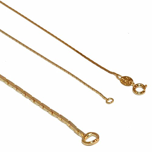 1-1615-1-e12 Gold Filled Square snake Link Chain, 1mm link, 18