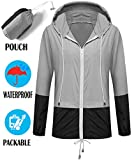 SunBoss Women Rain Jackets Waterproof with Hood Lightweight Water Resistant Casual Shell