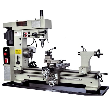 "BOLTON TOOLS 16"" x 30"" Combo Metal Lathe With Mill Drill. Runs On 2 Separate Motors. Distance between centers: 31 1/2"". Swing over bed: 16 1/2. Spindle hole diameter:1-1/10"