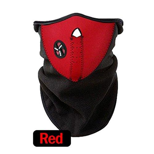 Quno Anti-Cold Dust Ski Half Face Outdoor Mountain Bike Sport Masks Red ()