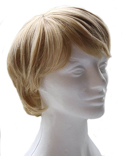 Costume De Kristoff Frozen (Kristoff Bjorgman Deluxe Frozen Inspired Blond Men's and Boy's Costume Wig)