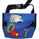 Premium Deluxe Dog Pet Training Treat Bait Bag Pouch with FREE Clicker by Downtown Pet Supply