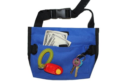 Downtown Pet Supply Premium Deluxe Dog Pet Training Treat Bait Bag Pouch with FREE Clicker