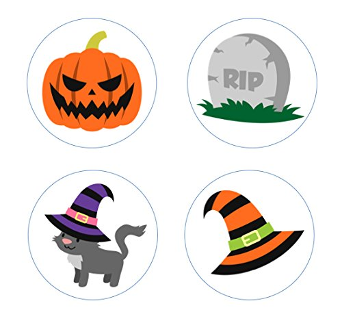 Homemade Halloween Tombstone Decorations (Halloween Spooky Fun Edible Cupcake Toppers Decoration)