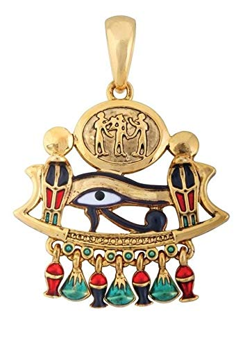 ShopForAllYou Figurines and Statues Ancient Egyptian Eye of Horus & Cobra Lead Free Pewter Jewelry Necklace Vanity