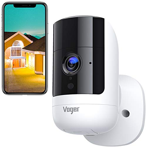 Voger Wireless Security Camera Outdoor ,1080P Rechargeable Battery Powered WiFi Surveillance Camera, 160°Wide Angle with Dual PIR Motion Detection,Two-Way Audio