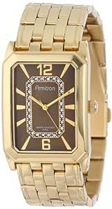 Armitron Men's 20M4210BNGP Swarovski Crystal Accented Gold-Tone Brown Dial Dress Watch