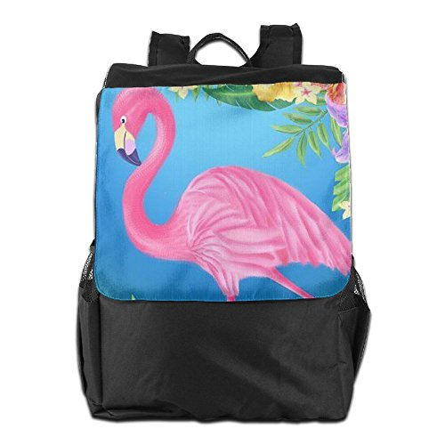 Adjustable Dayback Camping Flamingo for Women Personalized Art School Travel Outdoors Pink Men Backpack and Shoulder HSVCUY Strap Storage with qS1wv6f