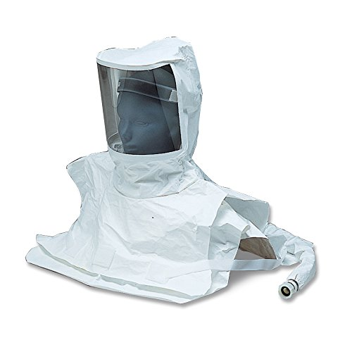 Allegro Industries 9911-10 Replacement Double Bib Maintenance Free Tyvek Hood CF SAR (Low and High Pressure), -