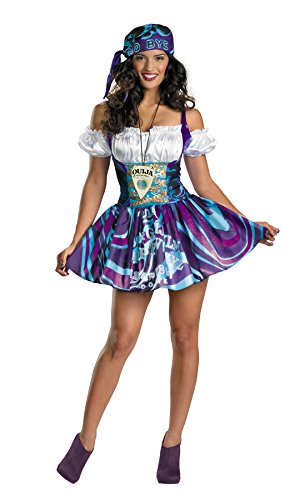 UHC Women's Ouija Sassy Gypsy Outfit Funny Theme Fancy Dress Halloween Costume, S (4-6)