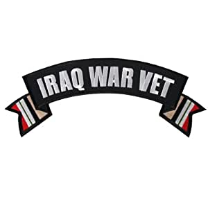 "Hot Leathers Iraq War Vet Banner Patch (11"" Width x 3"" Height)"