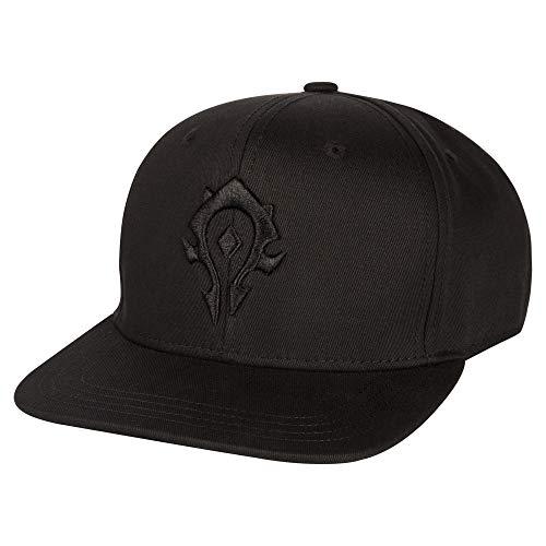JINX World of Warcraft Blackout Horde Snapback Baseball Hat, Black, One Size