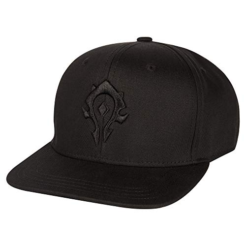 JINX World of Warcraft Blackout Horde Snapback Baseball Hat (Black, One Size)