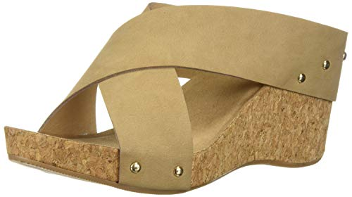 (CL by Chinese Laundry Women's ABLOOM Wedge Sandal, Nude Nubuck, 8.5 M US)