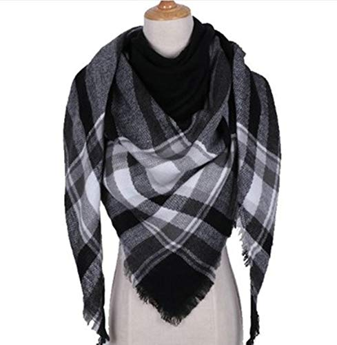 Amdxd 140cm nero Scarf l'autunno Lattice Women per Cashmere inverno Sciarpe ppqTcOU