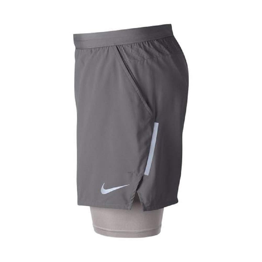 a34ed7259e2a6 Amazon.com  Nike Men s Flex Stride 2 in 1 Running Shorts 5 inch Gunsmoke  Grey (X-Large)  Clothing