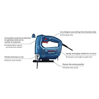 Bosch 06015A80F0 GST 650 Professional Jigsaw, Blue 10