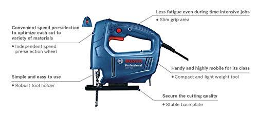 Bosch 06015A80F0 GST 650 Professional Jigsaw, Blue 5