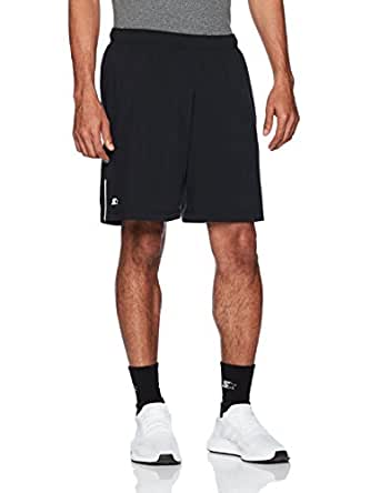 """Starter Men's 7"""" Loose-Fit Stretch Training Short with Liner, Amazon Exclusive, Black, Small"""