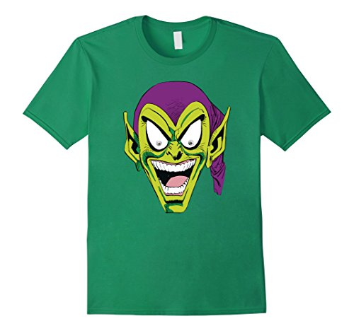 Mens Marvel Spider-Man Green Goblin Laugh Graphic T-Shirt Medium Kelly Green (Spider Man Green)