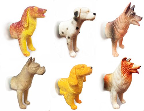 Magstick Dog Forepart Magnets with Strong Magnets (Set of 6) Dog lovers will love it Fun Decorative Refrigerator Magnets,Fridge Magnet,Whiteboard Magnets, Calendar Magnets, Map (Necklace Dollar Sign Jumbo)