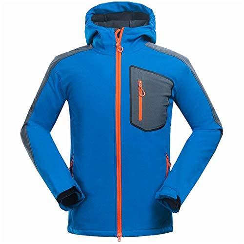 KinYanilsn Outdoor Thick Windstopper Waterproof Hiking Jackets Trekking Camping Ski Coats Blue XXL ()
