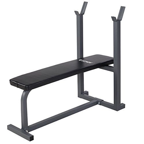 Goplus Weight Bench Flat Crunch Sit Ups Board Fitness Equipment
