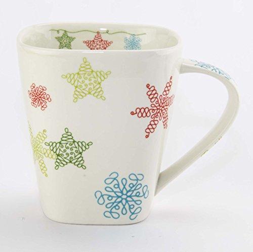 Starbucks Holiday Christmas 2005 Square Snowflake Mug