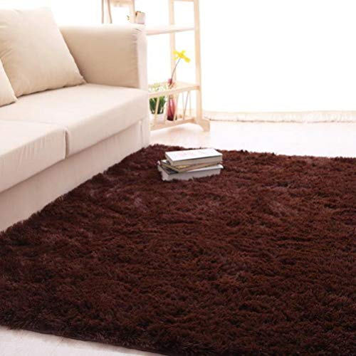 nOnioX Plush Shag Mats Bedroom Living Room Faux Fur Carpets Kids Crawl Area Rugs Non-SlipPlush Sofa Cover Rugs