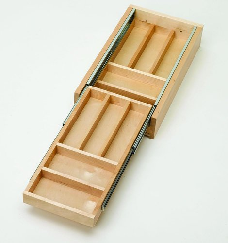 Rev-A-Shelf Tiered Cutlery Drawer Only Organizers, Natural