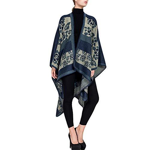 Linlink Las Mujeres de Moda Manta de diseño de Flores Abrigo Acogedor Chal