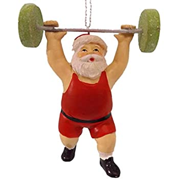 Amazon Com Polar X Ornaments Weight Lifter Fitness Sport