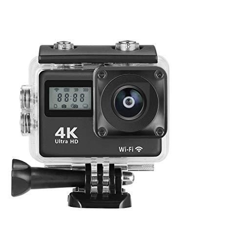 MixMart Cámara Deportiva 4K WiFi Impermeable Sumergible hasta 30m Sensor de Sony IMX179 16MP Ultra HD Gran Angular Lente de...