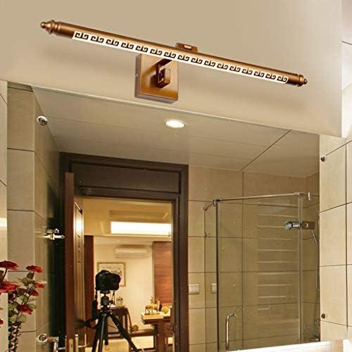 . Americana Led Espejo de estilo europeo Faro baño a prueba de herrumbre impermeable del maquillaje espejo del gabinete de la lámpara (Color : White light)