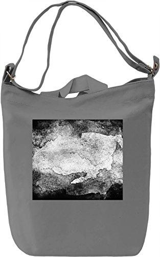 Black and White Watercolor Texture Borsa Giornaliera Canvas Canvas Day Bag| 100% Premium Cotton Canvas| DTG Printing|