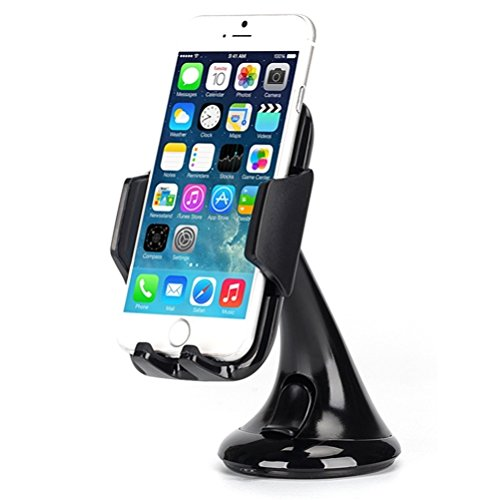 Premium Car Mount Dash Windshield Cradle Holder Stand Window Glass Swivel Dock Strong Suction Compatible with Lenovo Moto Tab (10.1) - LG V35 ThinQ, Stylo 4, G Pad F2 (8.0)