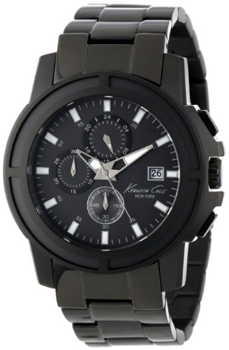 Kenneth Cole New York Men's KC9204 Dress Sport Triple Black Chronograph Oversize Watch, Watch Central