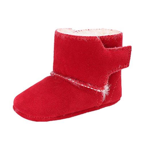 12 Auxma 12 più Soft bambino Scarpe 6 i Baby mese 3 rosso da piccoli Culla per Snow 18 6 Boots qwEZZaxv