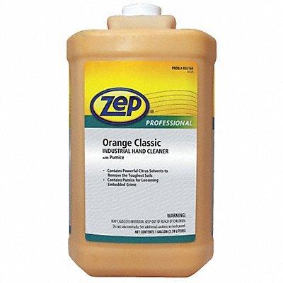ZEP 1046475 Industrial Hand Cleaner, Gel, Orange, 1 gal Bottle, - 4 Bottles Gallon One