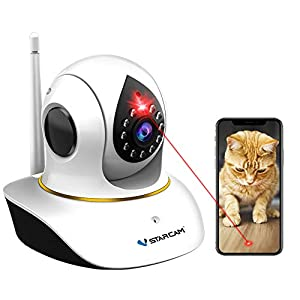 Pet Camera, VStarcam Cat Camera with Laser Wireless Cat Camera 1080P Cat Toys, Night Vision Sound Motion Alerts, APP…