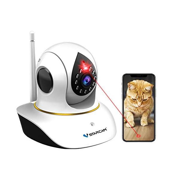 Pet Camera, VStarcam Cat Camera with Laser Wireless Dog Camera 1080P Cat Toys, Night Vision Sound Motion Alerts, APP…