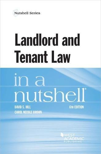 Landlord and Tenant Law in a Nutshell (Nutshells)