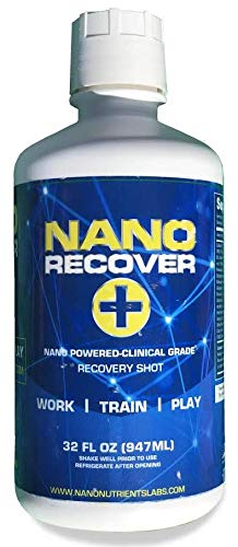 Nano Recover | Patented Hangover Cure, Prevention & Morning Recovery Drink | Liver Detox Supplement w/Dihydromyricetin (DHM), Milk Thistle, Electrolytes & Vitamins | Fast Alcohol Recovery -16 ()