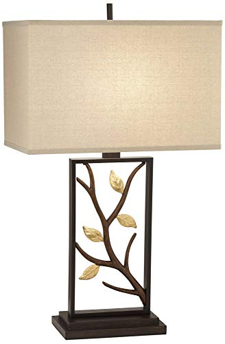 Vera Bronze Branch and Leaves Sculptural Table Lamp ()