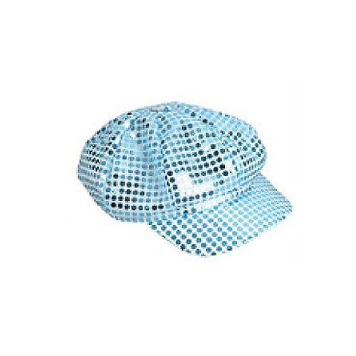 Pop Star Diva Costume (Sequin Newsboy Hat Diva Hat Select Color: blue)