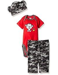 Gerber Baby Boys' 3 Piece Bodysuit, Cap, and Pant Set
