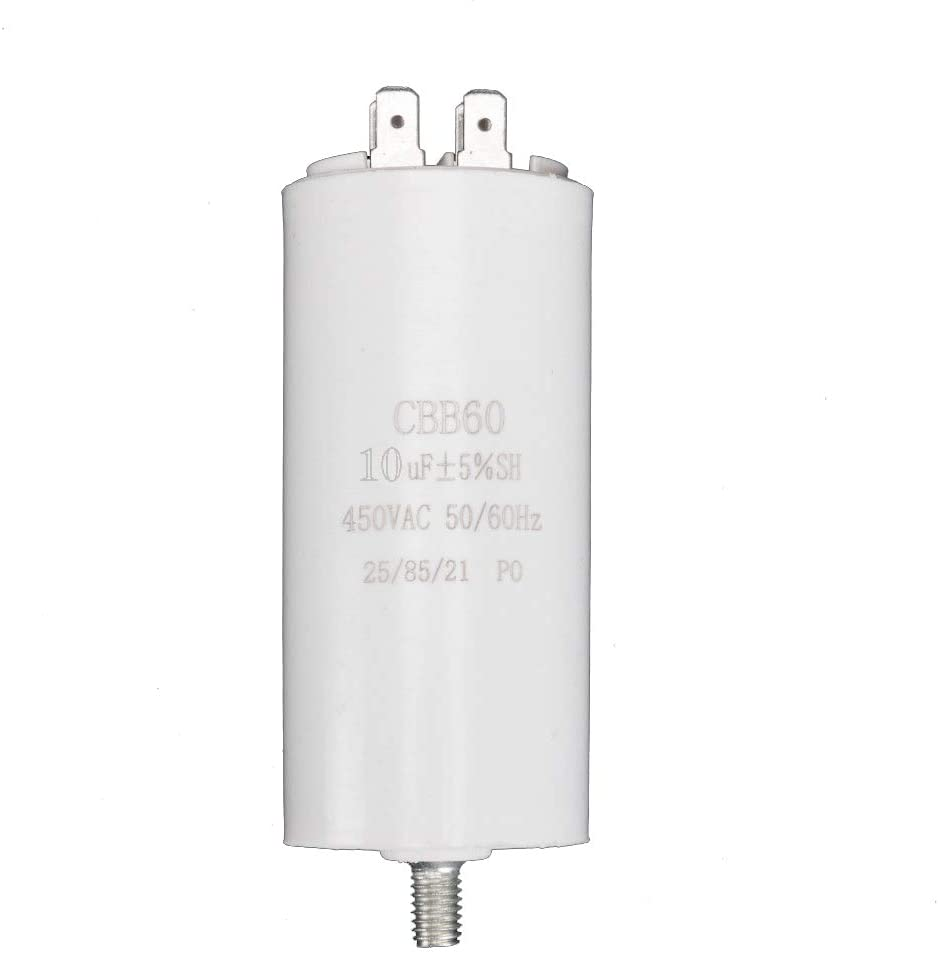 ICQUANZX 10UF CBB60 Double Insert Molded Capacitor (with Screw at The Bottom) Run Capacitor Motor Run Start Capacitor Frequency 50/60Hz 450VAC