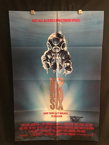 Deep Star Six 1989 Original Vintage One Sheet Movie Poster, Sci Fi, Aliens, Space