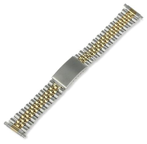 Speidel (Accessories) Men's 230177DR 18 -mm Classic Watch Strap - Dual Tone